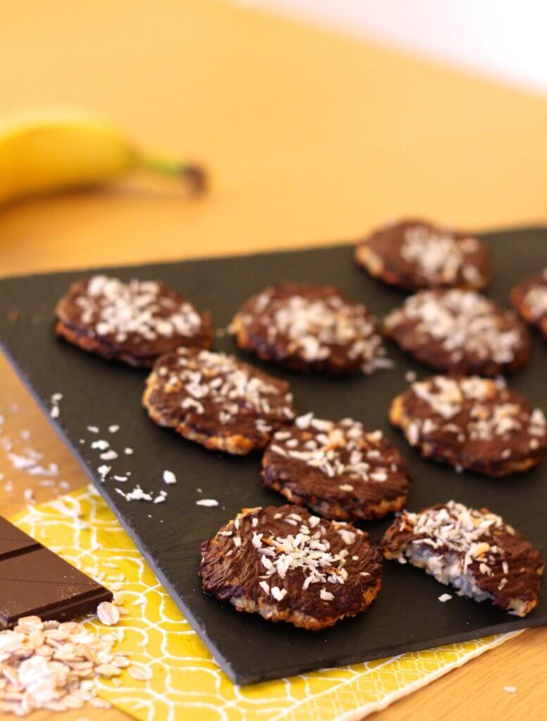 recette saine mint biscuit moelleux avoine banane chocol