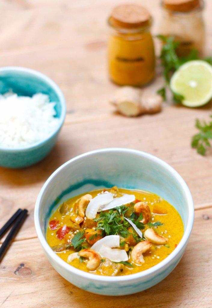 curry légumes mint