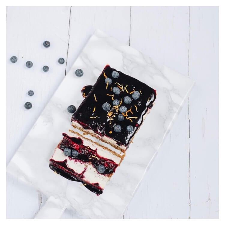 cheesecake myrtilles mint blog