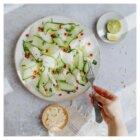 concombre melon chèvre grenade recette mint healthy